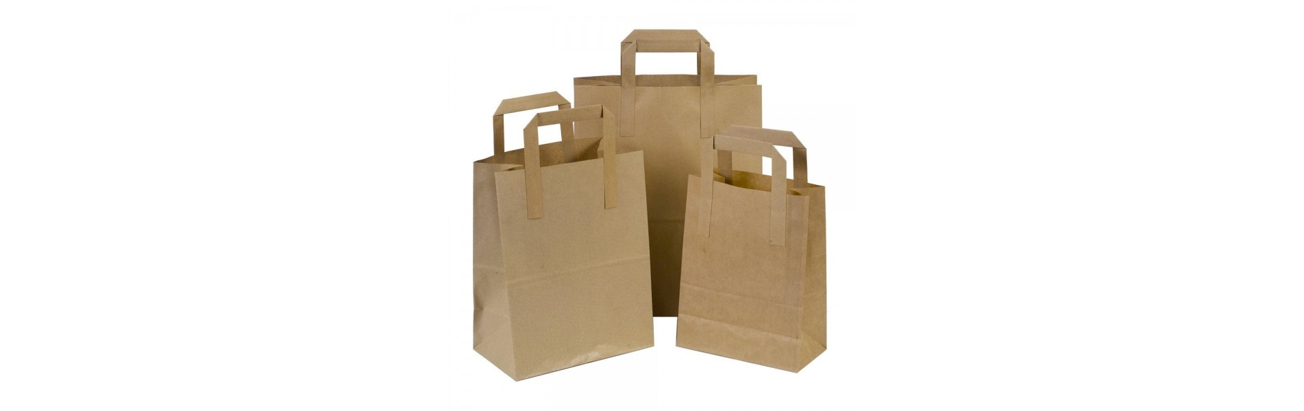Paper Flat Handle Carry Bags