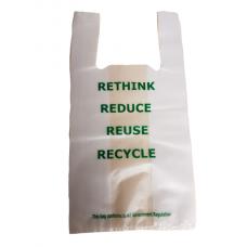 Singlet Bag Medium 75um Printed RETHINK 250/Pack 500/Carton