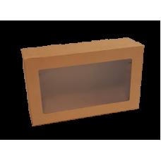 Window Box & Lid Kraft XS 255x152x80mm 10/Pack 100/Carton