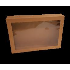 Window Box & Lid Kraft LGE 450x310x80mm 10/Pack 50/Carton